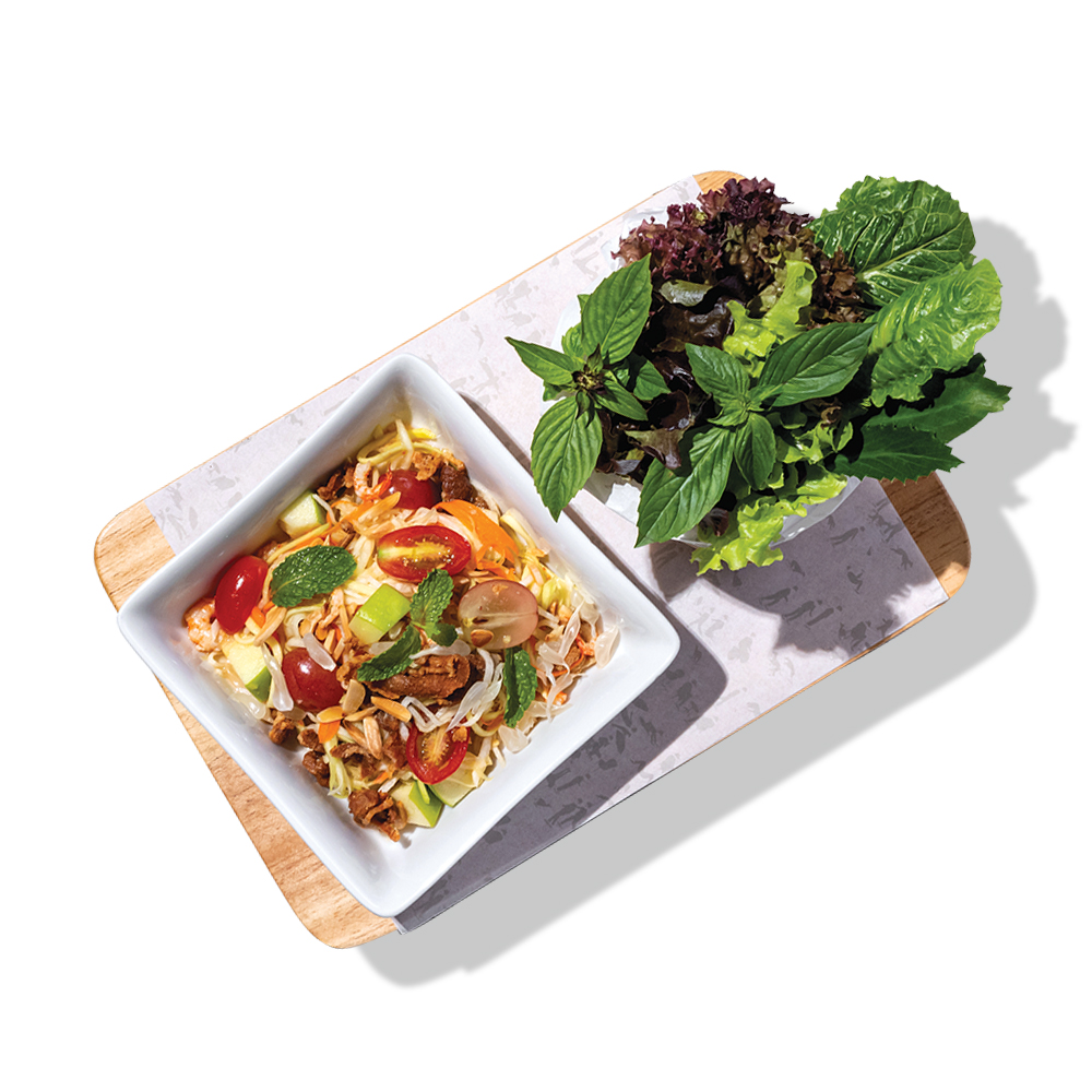 Fruit Som Tum with Mixed Crispy Vegetables